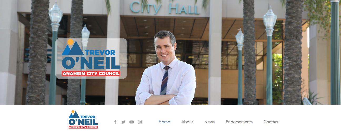 Trevor O neil for anaheim city council 2018