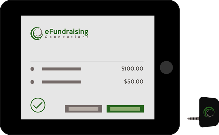 Accept Political Campaign Payments Anywhere with eFunds Swiper Credit Card Reader for all Android or iOS Mobile Devices and eFundraising Connections.