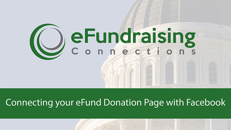 Thumbnail for tutorial video to add your eFund donation link to your Facebook campaign page